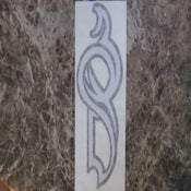 "Image of ""3QD"" Tribal logo sticker/decal"