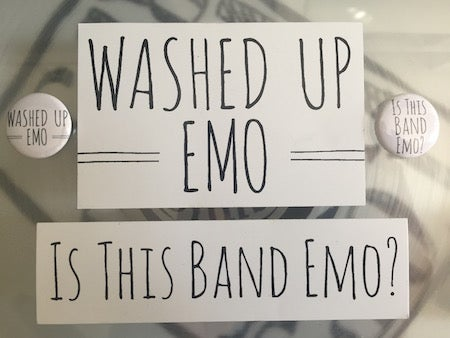 Image of Washed Up Emo Button / Sticker Set