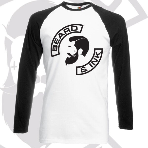 Image of Beard & Ink Side Logo Raglan Shirt