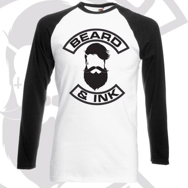 Image of Beard & Ink Front Logo Raglan Shirt