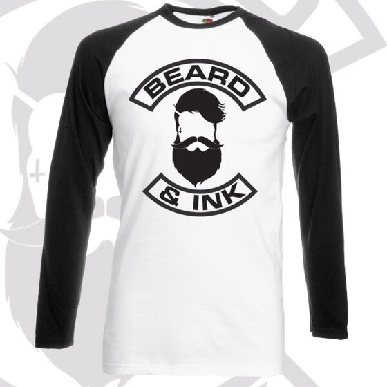 Image of Beard & Ink Front Logo Raglan Shirt
