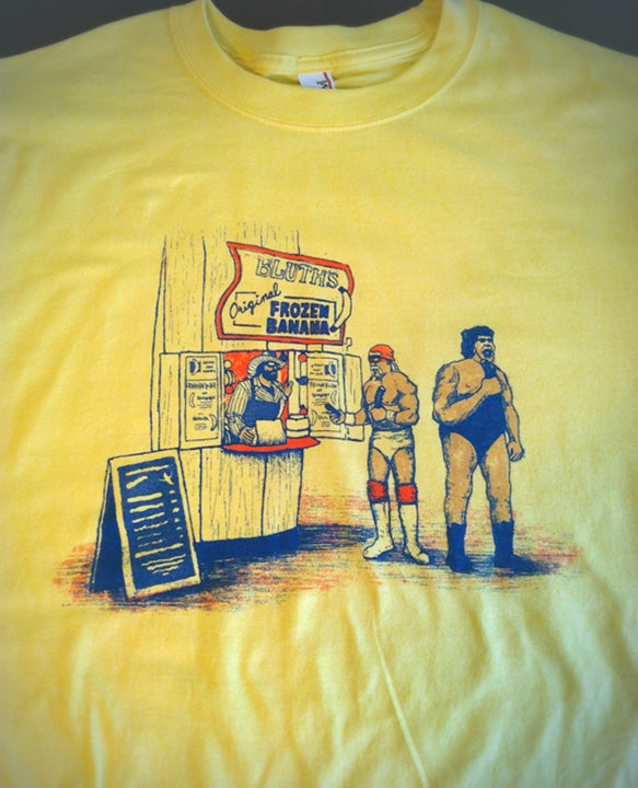Image of There's Always Pro Wrestlers In The Banana Stand T-Shirt