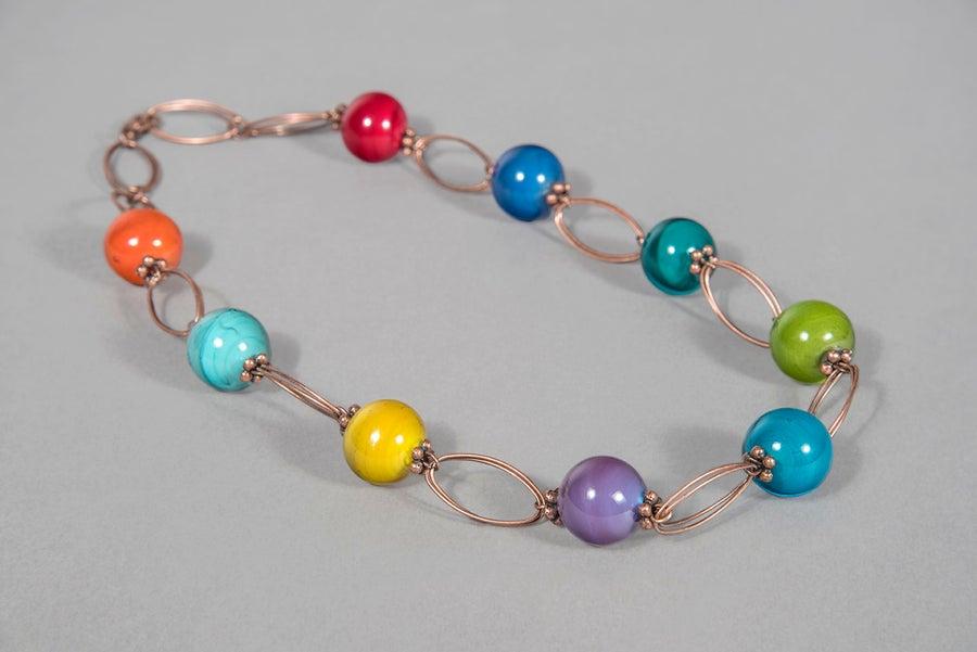 Image of collana IRIS in perle di vetro di Murano