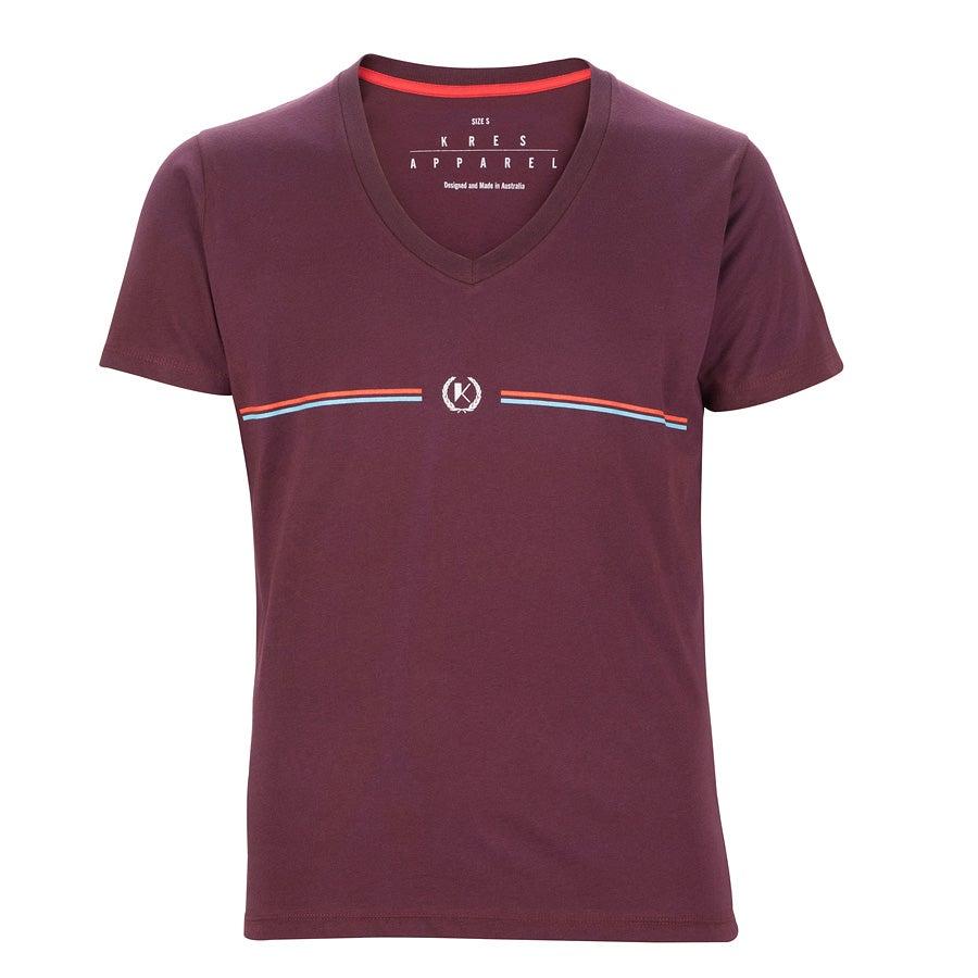 Image of HERITAGE burgundy cotton T-Shirt