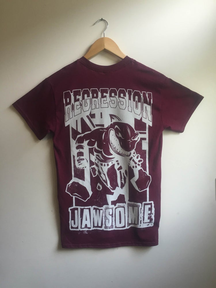 Image of JAWSOME T Shirt in Maroon