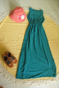 Image of Green chiffon dress