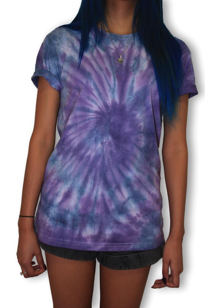 Blue purple logo tie dye wild eyes apparel for Black and blue tie dye t shirts