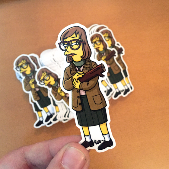 Image of Log Lady stickers (3)