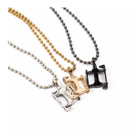 Image of BIKE PEDAL CHARM NECKLACE