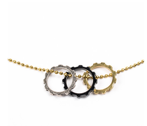 Image of TRIPLE COG NECKLACE