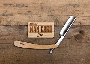 Image of Personalized Handmade Straight Razor Cigar Box Shave Kit