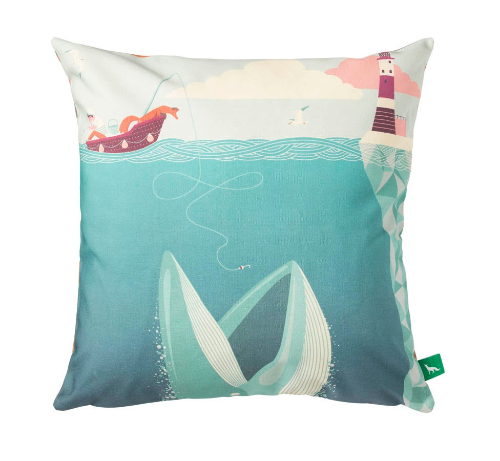 "Image of ""The Fear Of Drowning"" Cushion Cover"