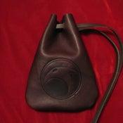 Image of Skelton Crew leather pouch - NEW!
