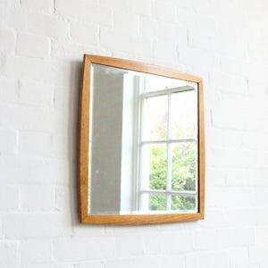 Image of Mid-century wooden mirror