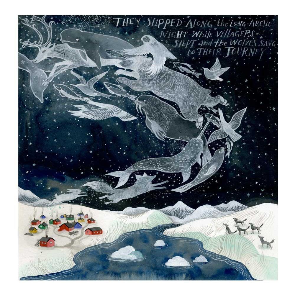 Изображение Лонг-полярной ночи 16 х 20 дюймов архиве Inkjet (Giclée) Распечатать