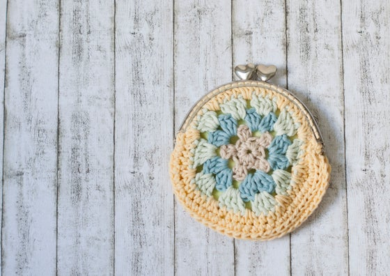 Image of Sweet granny square crochet coin purse