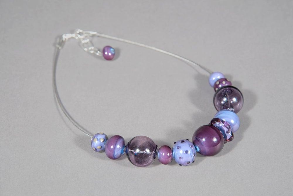 """Image of collana FRIDA in perle di vetro di Murano """"a lume"""" e soffiate"""