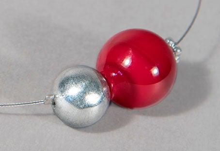 Image of collana MINIMALIA in perle soffiate di vetro coprente di Murano
