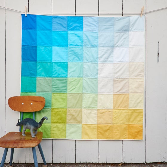 Image of Grid Quilt: Beach