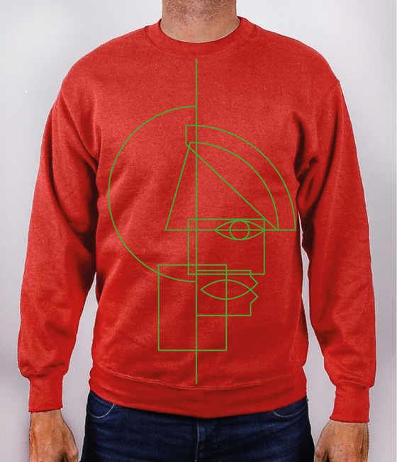 "Image of ""Nwa mmuo"" Set-In red Sweatshirt"
