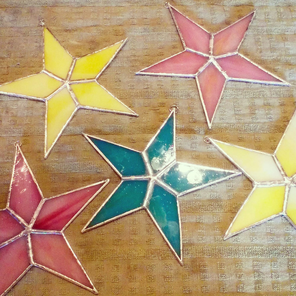 Image of Opaque Solid Star-stained glass