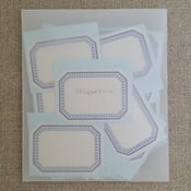 Image of Etiquettes -rectangle bleu grand-