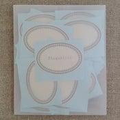 Image of Etiquettes -ovale gris/argenté-