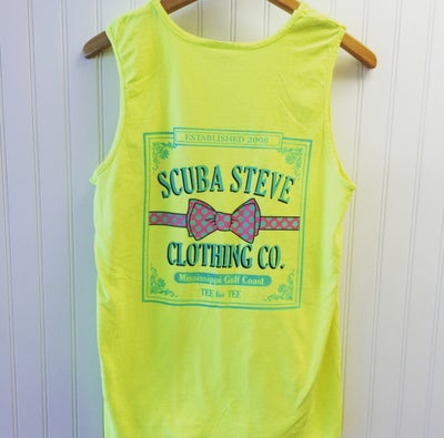 Image of Bow Tie Tank (Neon Yellow)