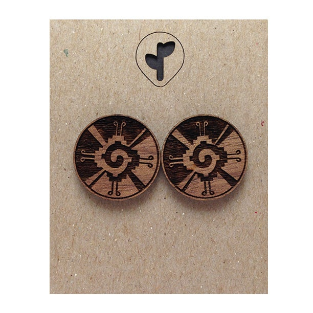 Image of galactic butterfly / studs / walnut