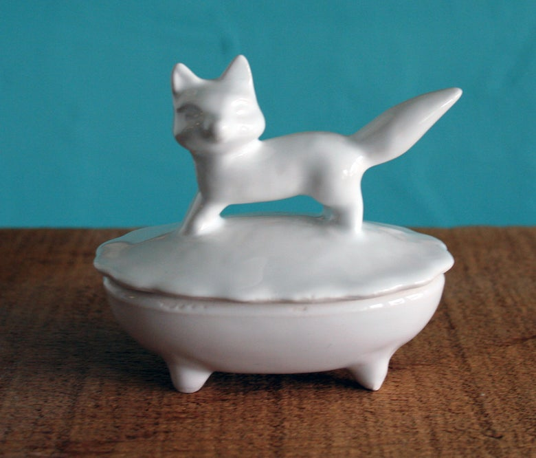Image of Fox Trinket Box Ceramic