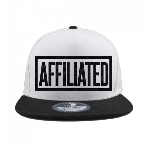 "Image of B.Wash - ""Affiliated"" Snapback (White/Black)"