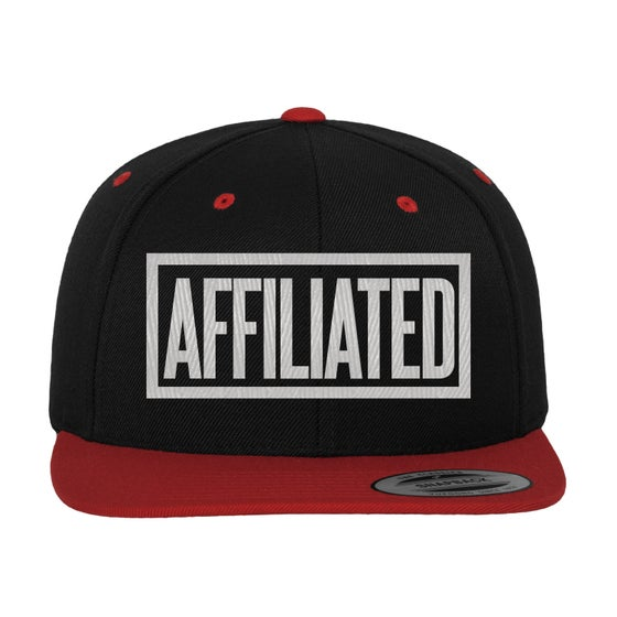 "Image of B.Wash - ""Affiliated"" Snapback (Black/Red)"