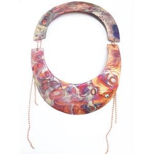 Image of Copper lovebirds neck plate