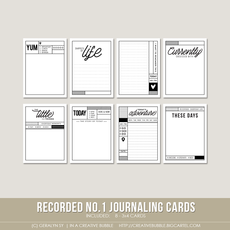 Image of Recorded Journaling Cards no.1 (Digital)