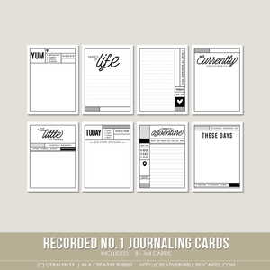 Image of Recorded no.1 Journaling Cards (Digital)