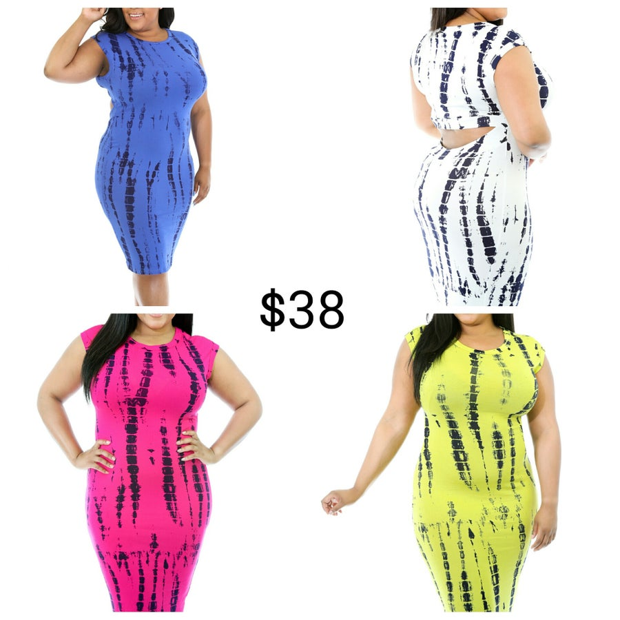 Image of Open Back Tie Dye Dress