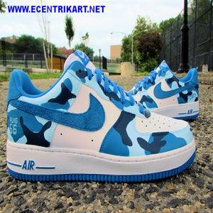 "Image of Air Force 1 ""LA Dodgers Camo"" Custom"
