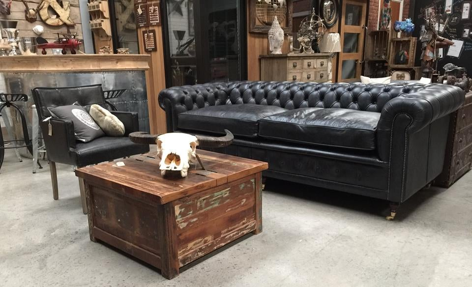 Bespoke Leather Chesterfield Sofa WAG Living