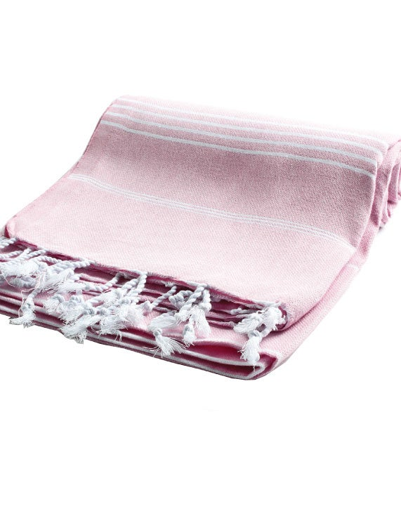 Image of  Sea + Me turkish towel - washed pastel pink