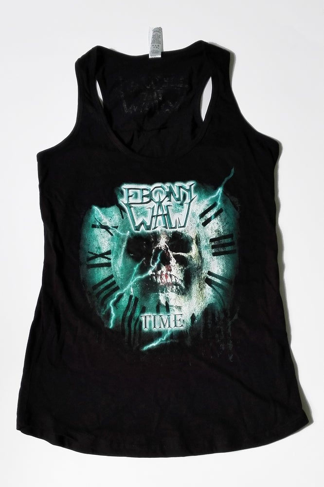 """Image of Ebony Wall """"Time"""" Womans Tanktop"""