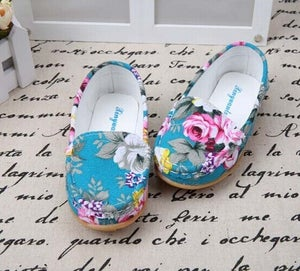 Image of Perfect Floral Canvas Toddler Shoes