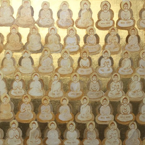 Image of Tiny Buddha Paintings with Gold