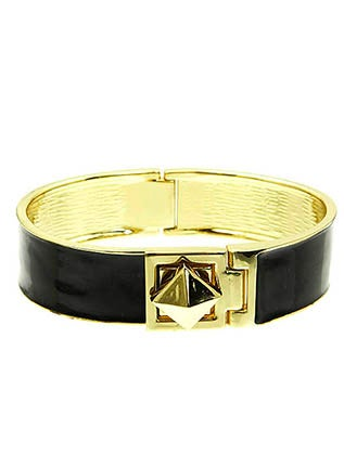 Image of PYRAMID HINGED BRACELET