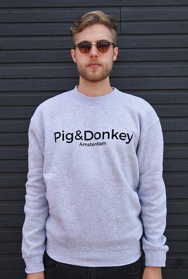Image of Pig&Donkey Heren Trui Grijs