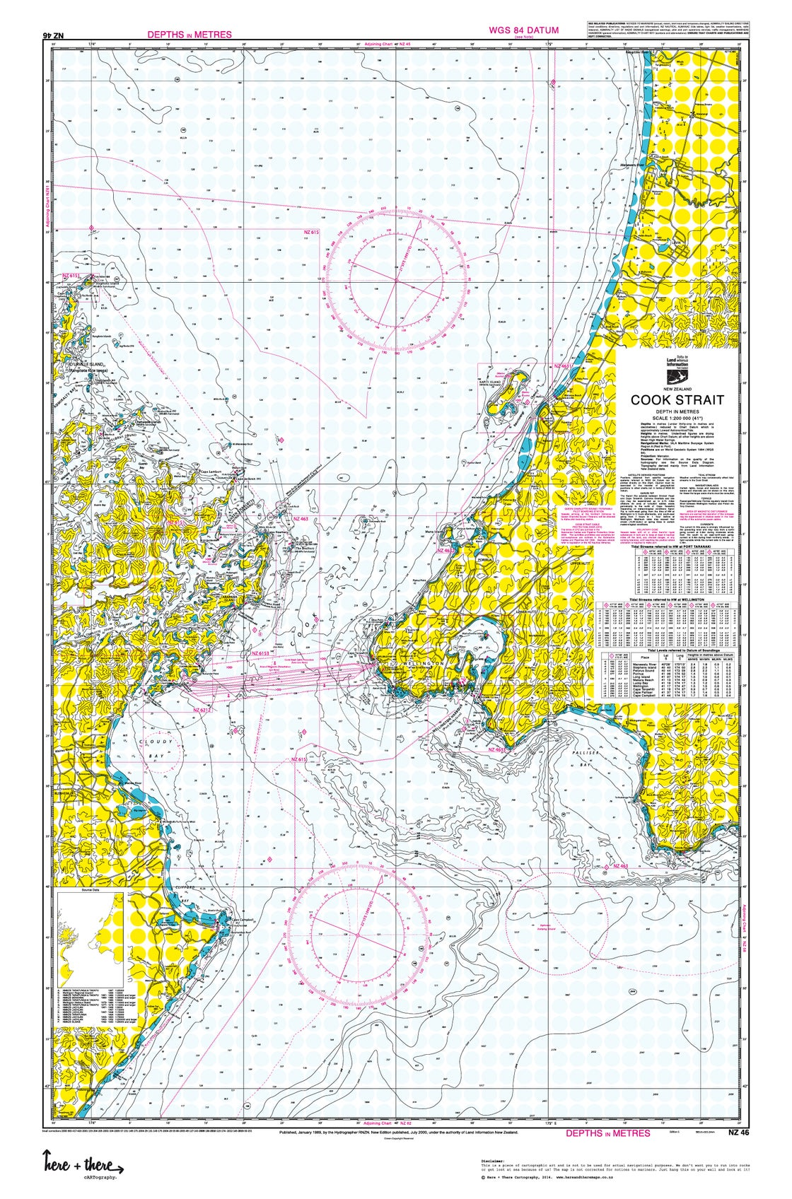 Image of Cook Strait - Yellow Polka
