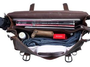 Image of Vintage Handmade Crazy Horse Leather Briefcase / Satchel / Laptop Bag - Backpack / Messenger (n94-2)