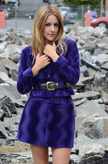 Image of Vintage 90's Purple Velour Twin Set