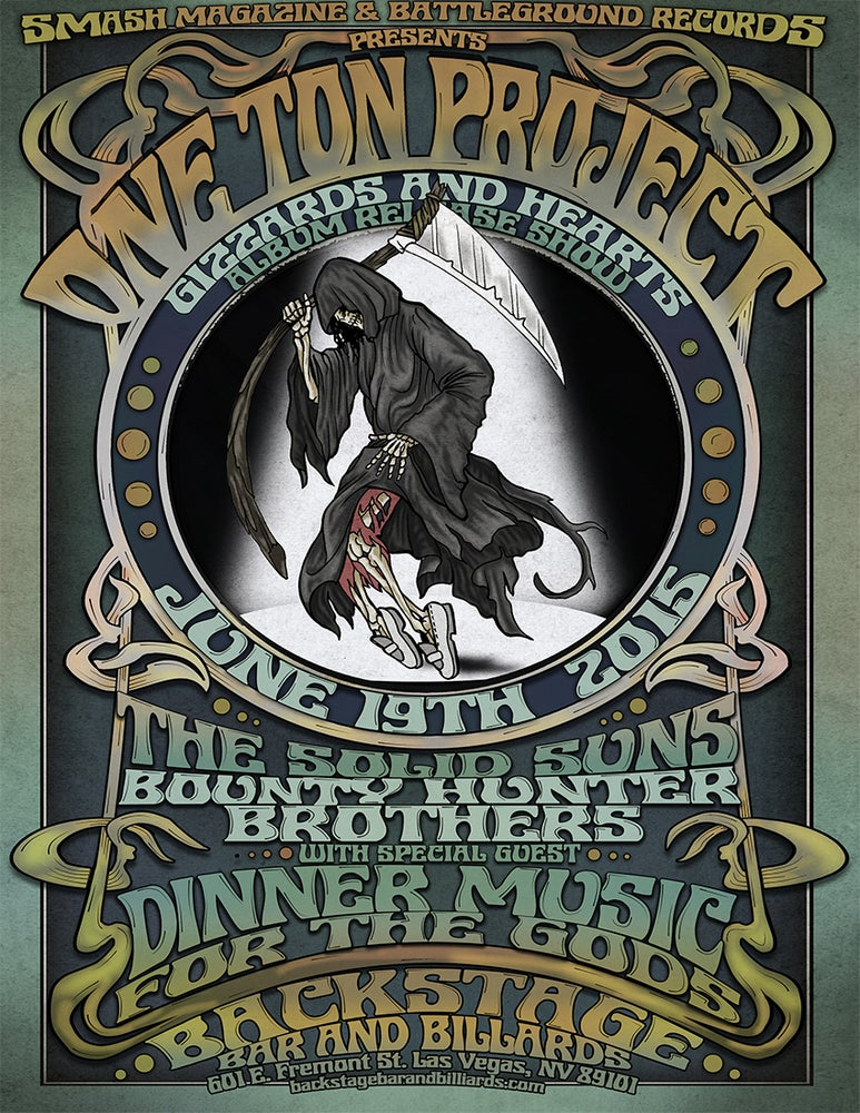 """Image of """"Gizzards and Hearts"""" Release show 11x17 Poster"""