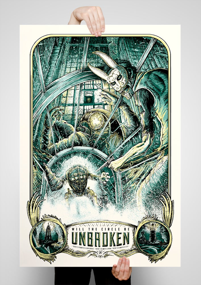 Image of Will the Circle Be Unbroken 24x36 Variant Screen Printed Poster
