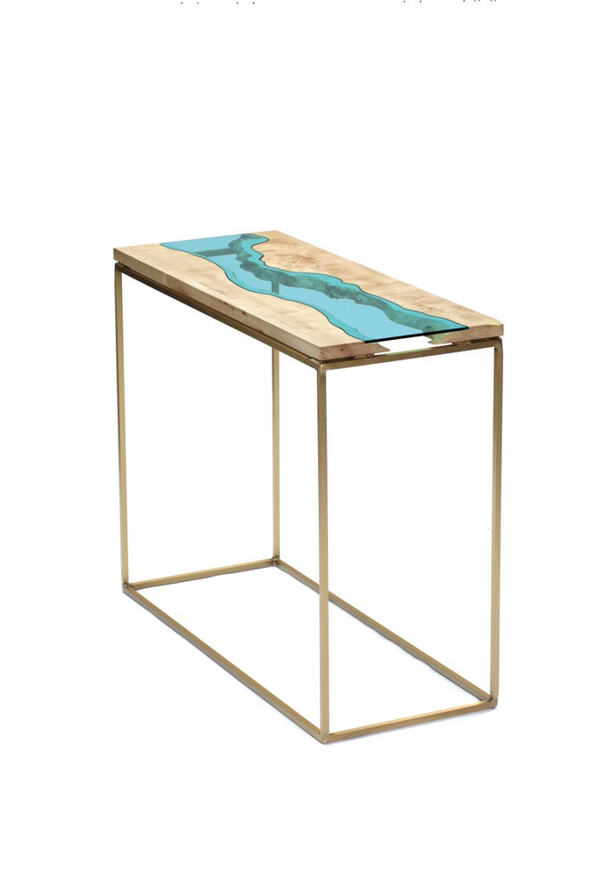 Image of maple + bronze river table